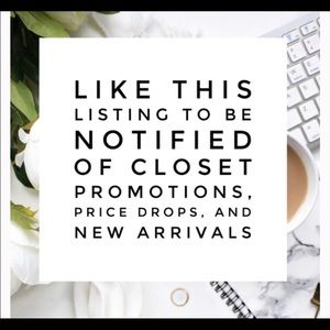 Like this post to be notified on new listings!